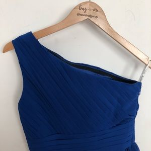 Dresses & Skirts - Blue one shoulder gown size S